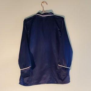 Natori Intimates & Sleepwear - Natori   Dark Blue Charmeuse Pajama Top